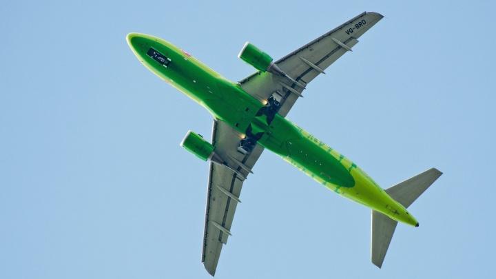 Самолёт S7 сделал восемь кругов над Новосибирском
