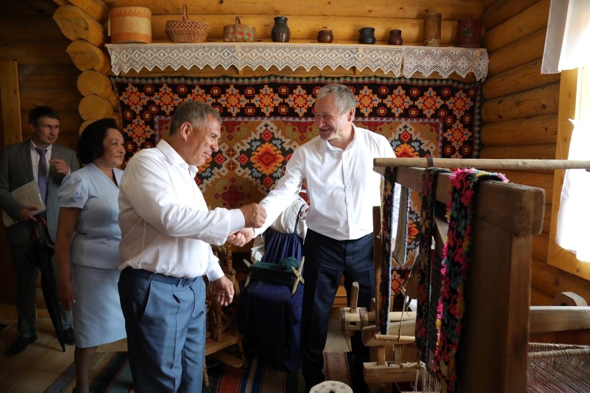 В Зауралье приехал президент Татарстана Рустам Минниханов
