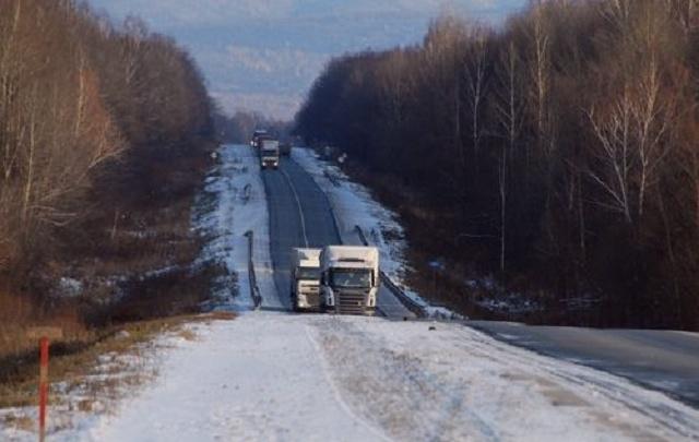 На автодорогах Курганской области временно ограничили движения грузового транспорта