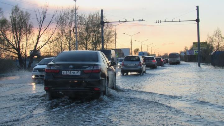 В Кургане во время паводка может затопить несколько улиц