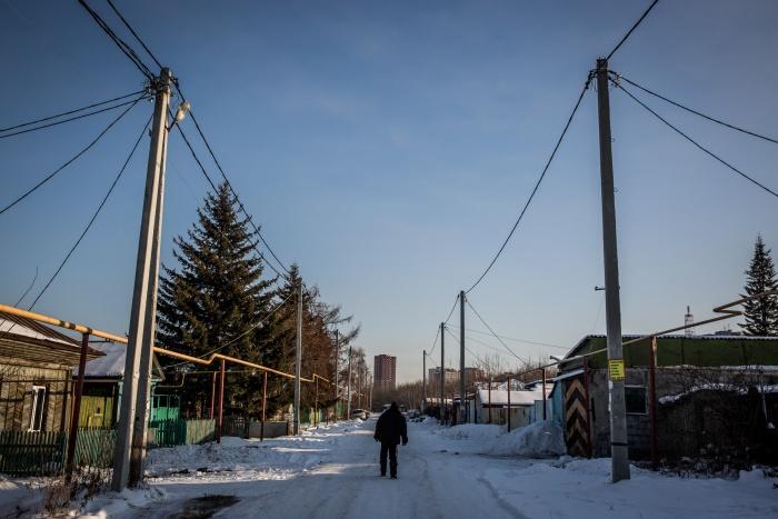 Часть улицы Большой, которая попадает в зону строительства моста