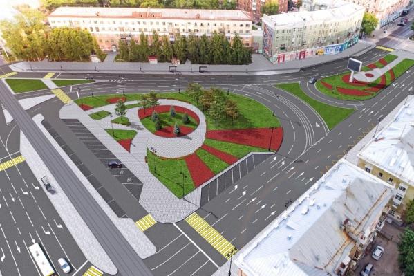 Одно из планируемых новшеств— появление сквера на Комсомольской площади