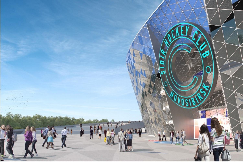 Ледовый дворец хотят построить у метромоста на левом берегу Оби