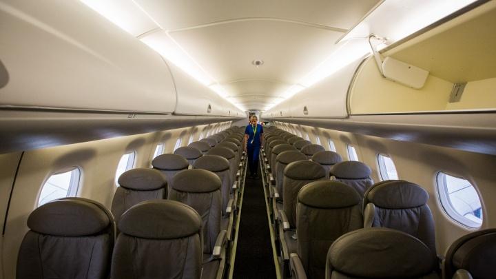 В Новосибирске показали самолеты с креслами из натуральной кожи для рейсов в Омск