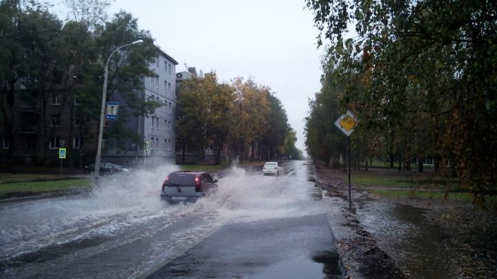 «Ливнёвки? Нет, не слышали»: дождь затопил отремонтированные дороги Ярославля