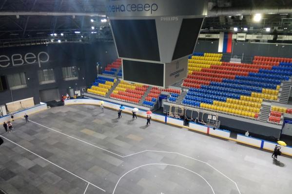 Головная станция установлена под куполом арены