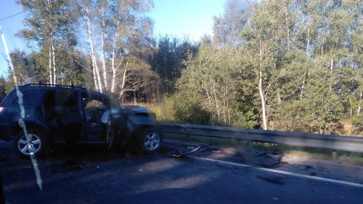 Смертельная авария на подъёме в гору: на трассе в Ярославском регионе погиб мужчина