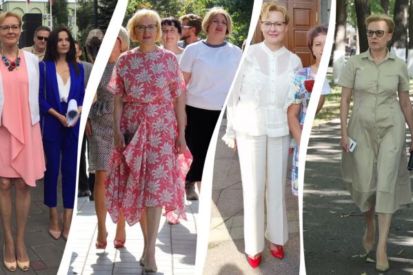 Елена Лапушкина на публичных мероприятиях всегда разная