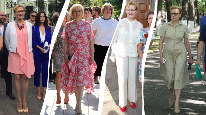 Total White и туфли-лодочки: смотрим топ-20 деловых луков мэра Самары