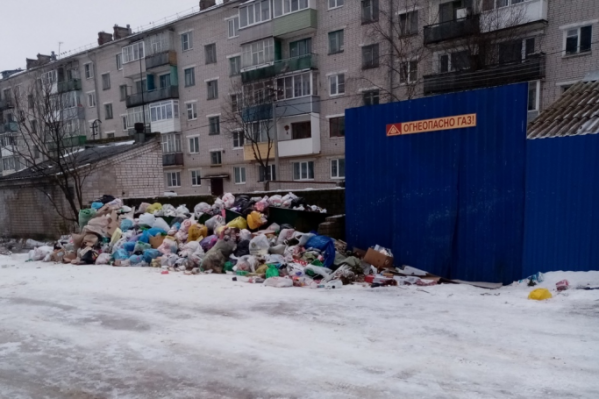 Котлашанам есть чему возмущаться. Это фото сделано 5 января — проблемы с вывозом мусора возникли с самого начала года