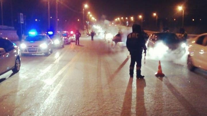 Во время утренней сплошной проверки в Тюмени задержали автомобиль BMW, разыскиваемый Интерполом