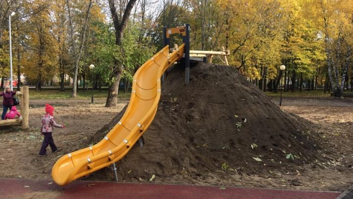 В Ярославле скандальную горку из грязи сделают поменьше