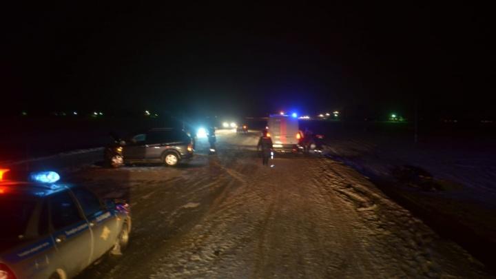 Смертельная авария на снежной трассе: столкнулись «Лада Гранта» и «SangYong»