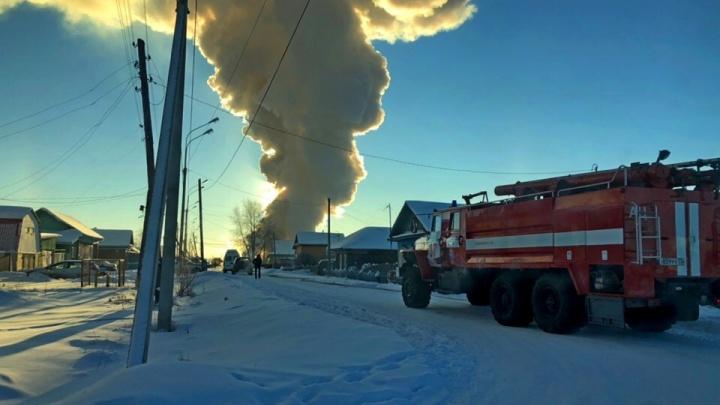В утреннем пожаре в Тобольске погибла женщина