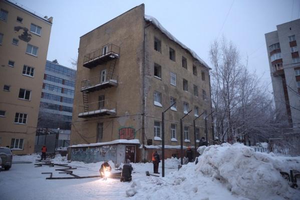 Дом на Каменской, 18 начали сносить утром 5 января