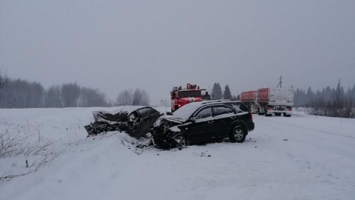 Три человека погибли в ДТП на трассе в Пермском районе