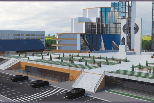 За монументом вырастут два восьмиэтажных корпуса