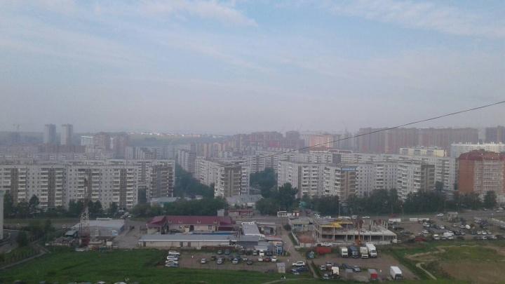 Дымка и запах гари накрыли летний Красноярск