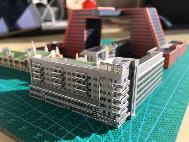 Макеты всех зданий выполнены в масштабе 1:1000