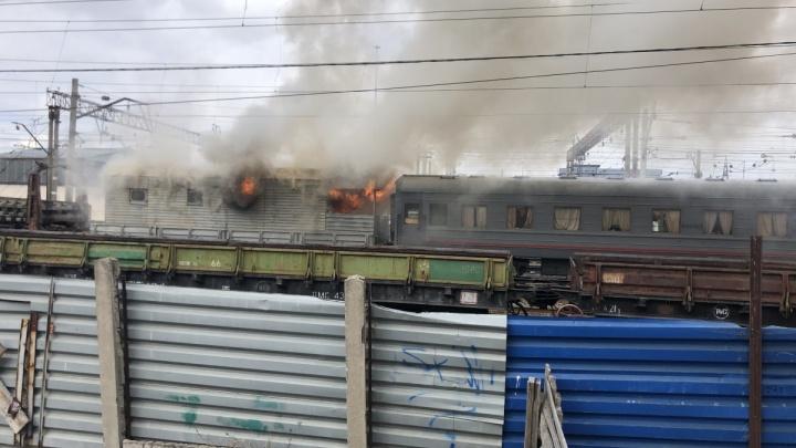 В вагоне поезда, загоревшегося на Шарташе, была баня