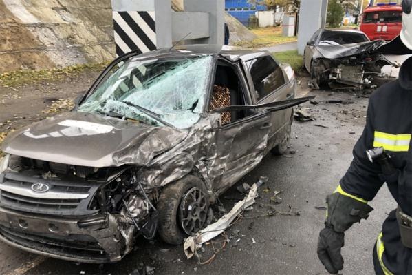 По данным МЧС, авария произошла в 14:20