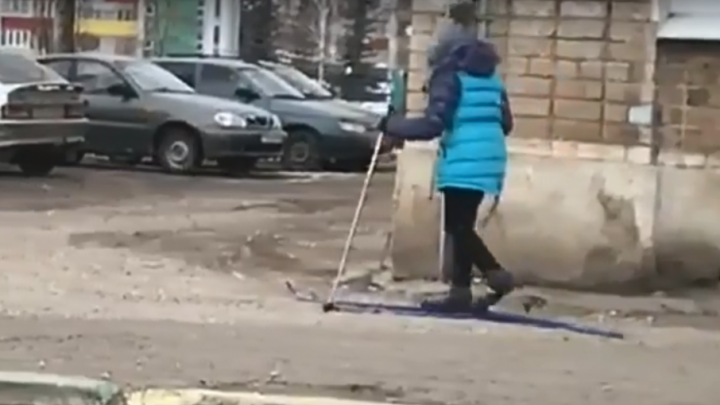 Снега нет, но вы держитесь: школьница из Башкирии стала звездой Интернета