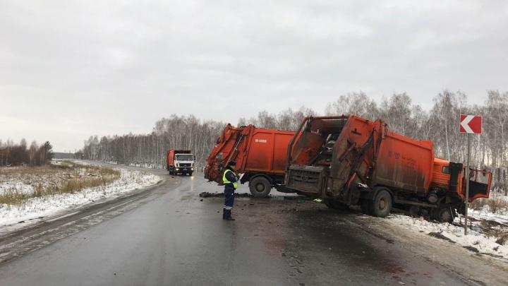 В ГИБДД рассказали подробности смертельной аварии с мусоровозами под Челябинском