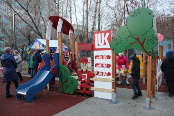 Детская площадка в новом сквере