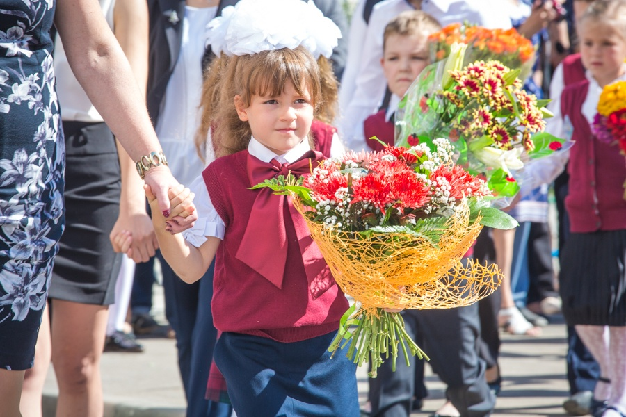 Цветы для учителя на 1 сентября