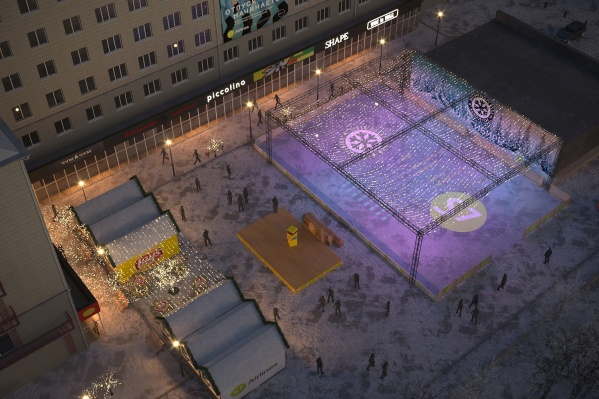 Основным элементом зимнего городка обещает стать каток (это один из возможных вариантов того, как он будет выглядеть)