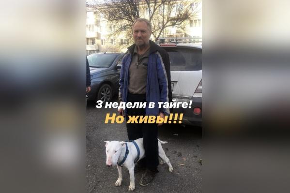 Мужчина с собакой три недели выживали в тайге