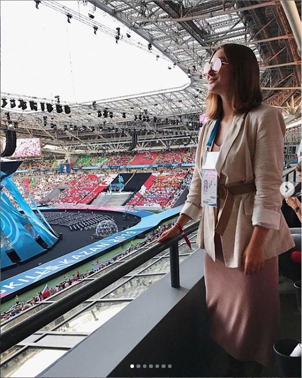 Впервые по красной дорожке Настя прошла на чемпионате мира WorldSkills в Казани