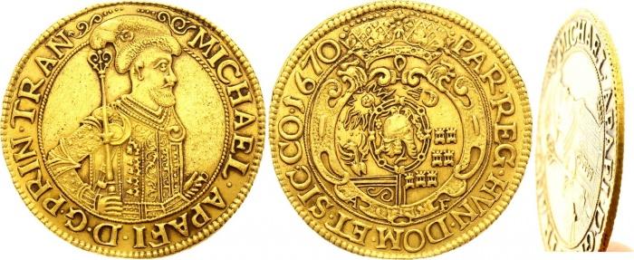 Золотая монета с родины Дракулы —Трансильвании, была продана на аукционе почти за 2 млн руб.