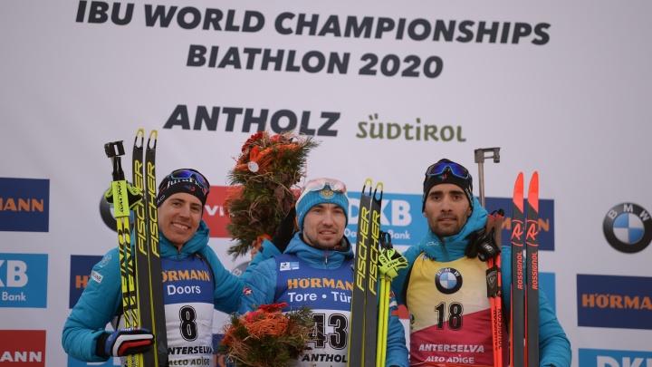 Тюменский биатлонист Александр Логинов выиграл спринт на чемпионате мира в Антхольце