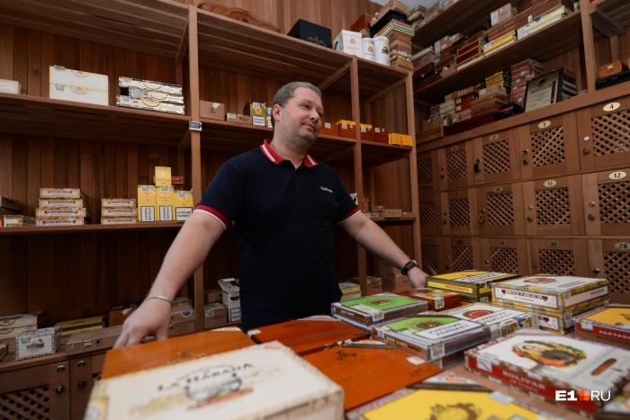 Директор сигарного лаунжа Станислав Гусев