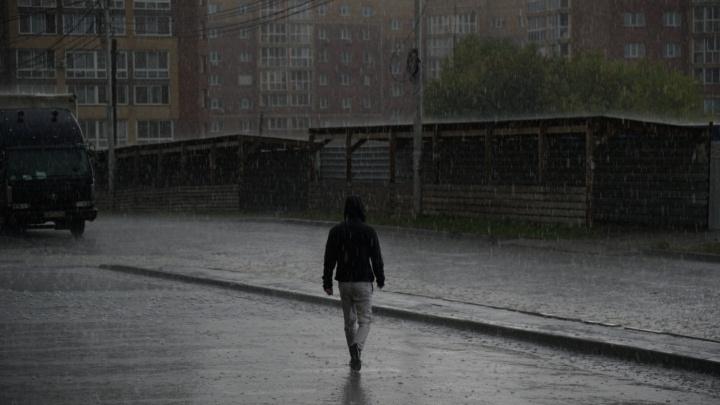 «Ливнёвки не справляются»: Новосибирск утонул после короткой осенней грозы
