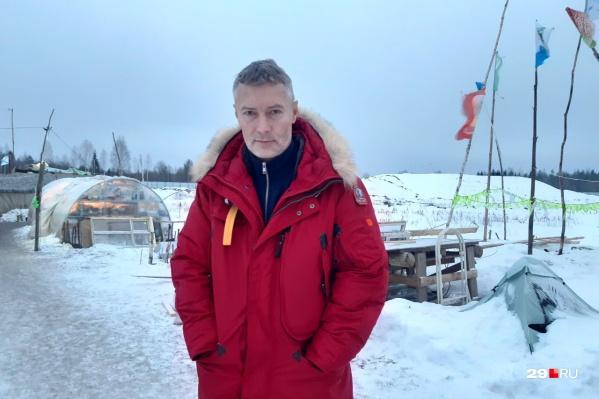 Один из участников форума «Свободные люди» — Евгений Ройзман, который давно планировал приехать на Шиес