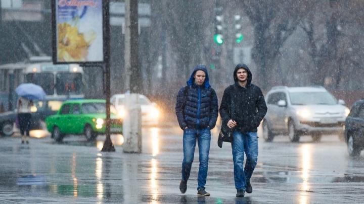 Мокрый снег и туман: в конце марта волгоградцам напомнила о себе зима