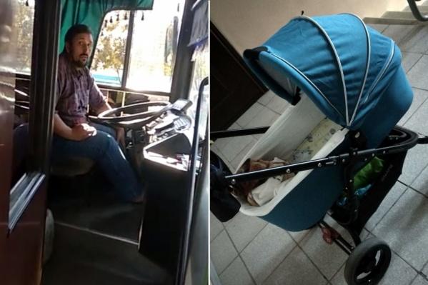 По словам пассажирки, только жёсткие рёбра коляски спасли младенца от травм