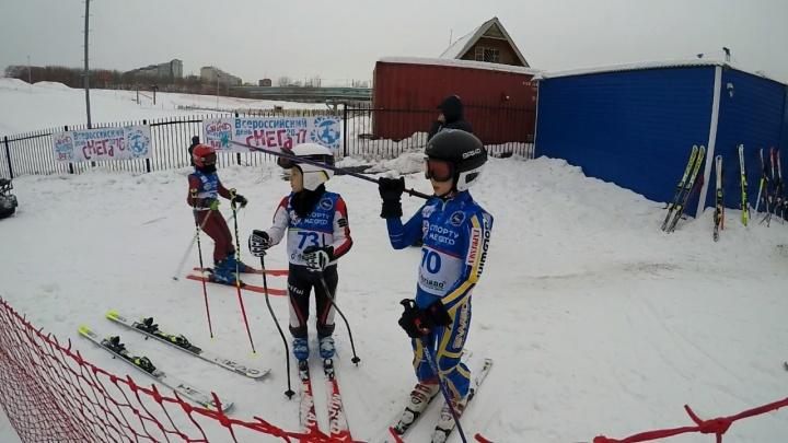 Новосибирцы отметили День снега: на Горской собрались 160 молодых лыжников