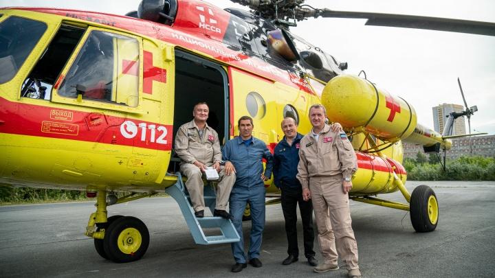 Скорая с крыльями: 10 лучших фото вертолёта, на котором врачи спасают жизни новосибирцев