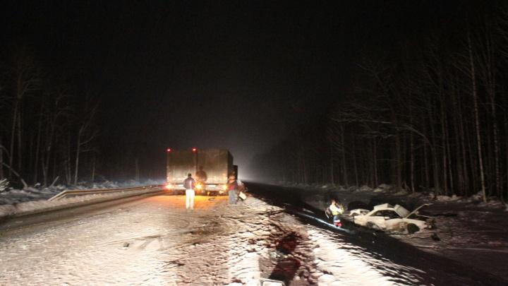 Повело в снегопад: стали известны подробности ДТП с фурой на М-5, в котором погибли двое парней