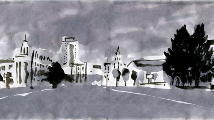 «Курган — идеальное место для творчества»: 20 видов города от зауральского художника