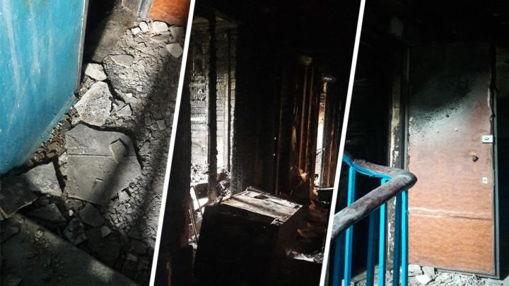 «Пять месяцев не можем вернуться домой»: чиновники Волгограда закрыли глаза на выгоревшую трехэтажку