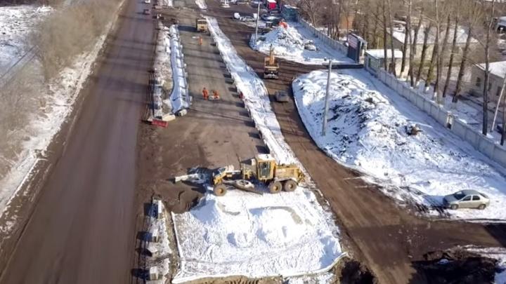 Стало известно, когда завершат реконструкцию Заводского шоссе от Авроры до XXII Партсъезда