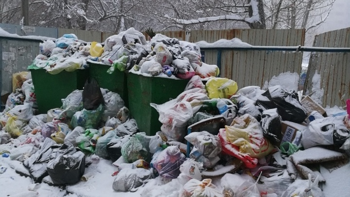 «У новой концессии свой график»: после Нового года дворы Волгограда утонули в горах мусора