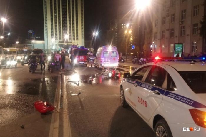 Лобовое столкновение байкеров, которое случилось на Свердлова, — большая редкость