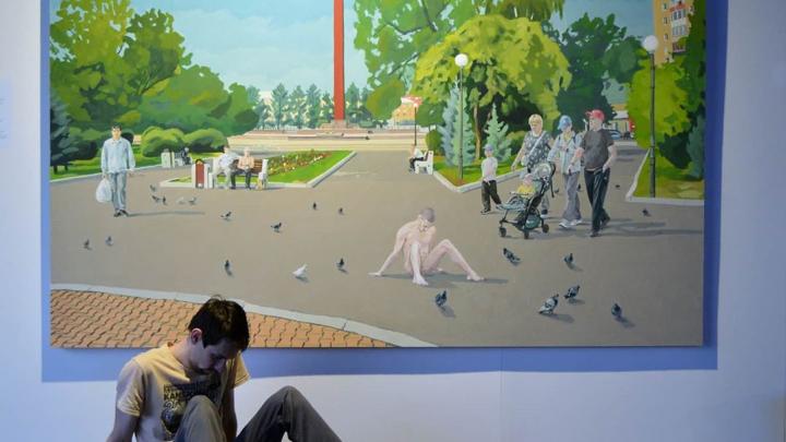 Красноярский художник продает свою картину с Павленским, прибившим гениталии гвоздями на Красной площади