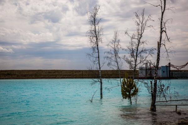 Невероятно голубое озеро за ТЭЦ-5 стало знаменито в этом году