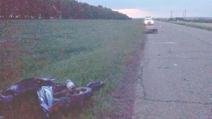 На трассе в Башкирии 15-летний школьник на скутере попал в ДТП